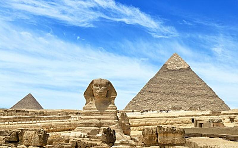Pyramids and Sphynx of Giza